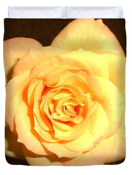 Gold Metal Rose 1 Duvet Cover