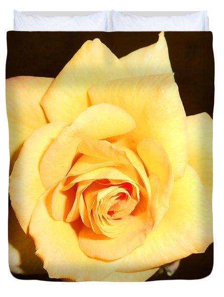 Gold Metal Rose 2 Duvet Cover