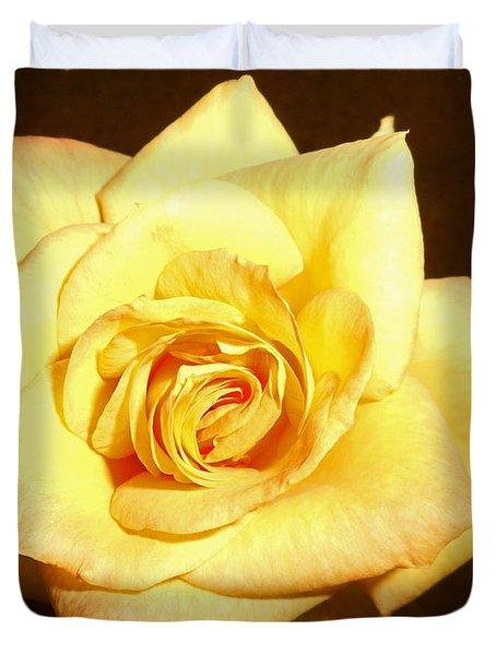 Gold Metal Rose 3 Duvet Cover