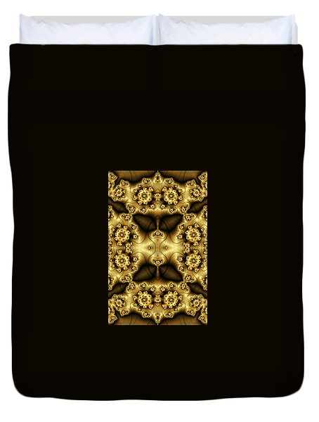 Gold N Brown Phone Case Duvet Cover