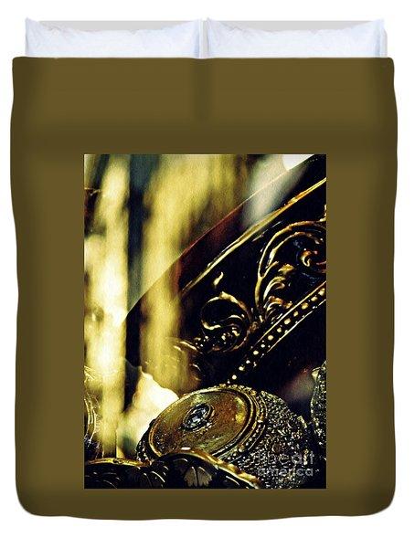 Gold Duvet Cover by Sarah Loft