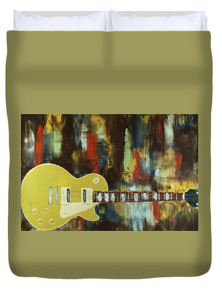 Gold Top Abstract Duvet Cover