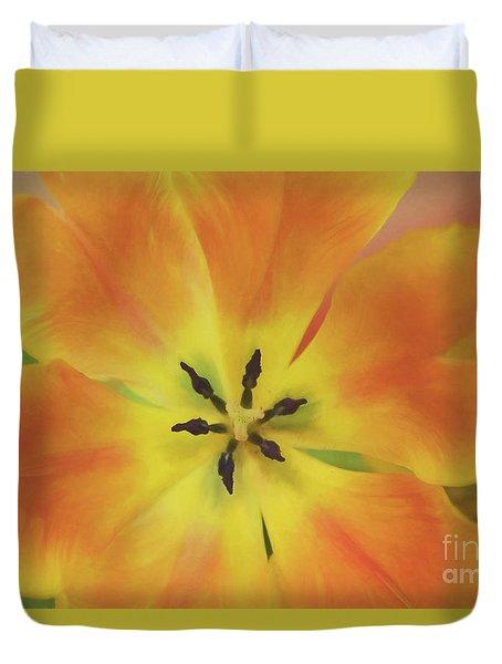 Gold Tulip Explosion Duvet Cover