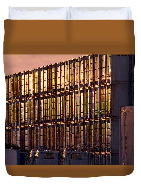 Gold Wall Duvet Cover