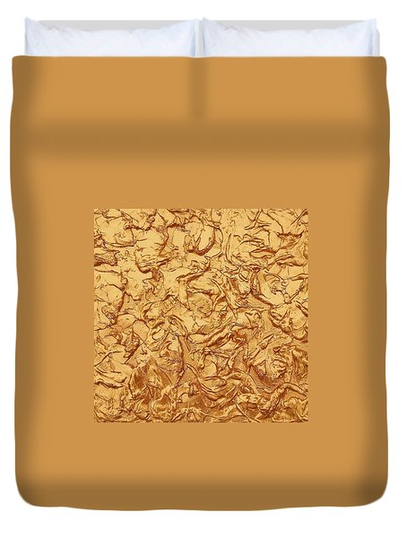 Gold Waves Duvet Cover