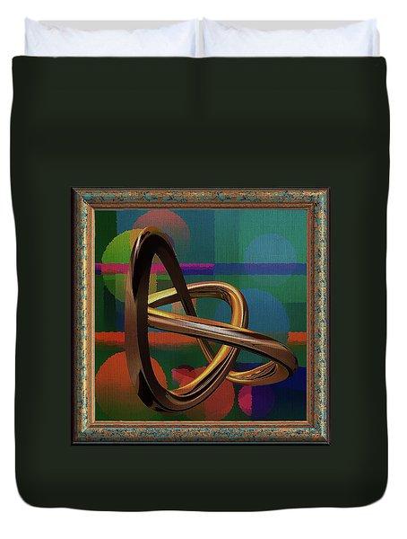 Golden Abstract Duvet Cover