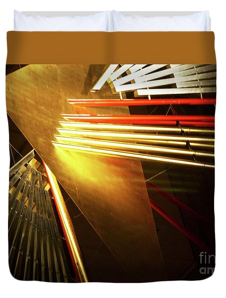 Golden Abstract Duvet Cover