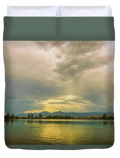 Duvet Cover featuring the photograph Golden Afternoon by James BO Insogna