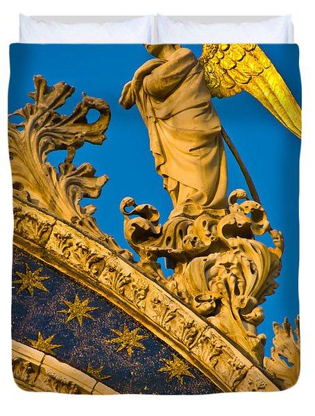 Golden Angel Duvet Cover