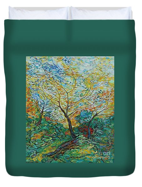 Golden Ash Trees 2 Duvet Cover