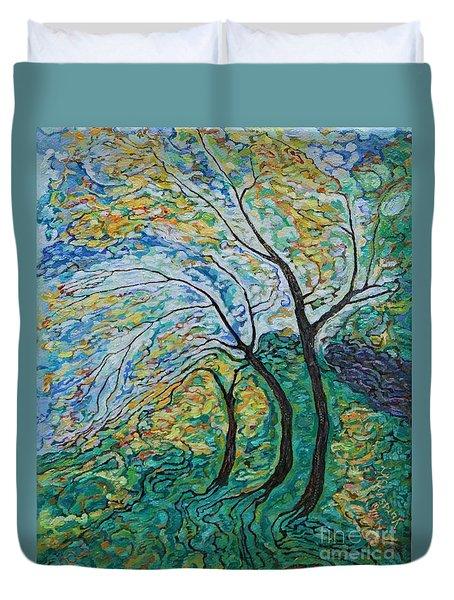 Golden Ash Trees 1 Duvet Cover