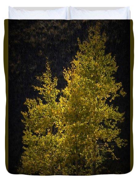 Golden Aspen Duvet Cover