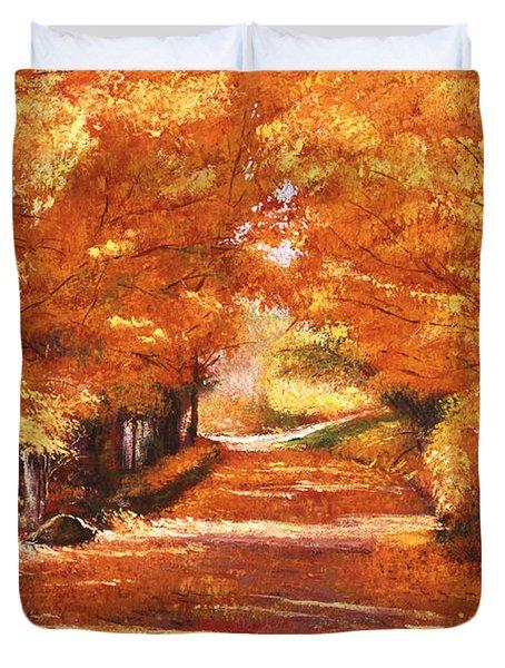 Golden Autumn Duvet Cover