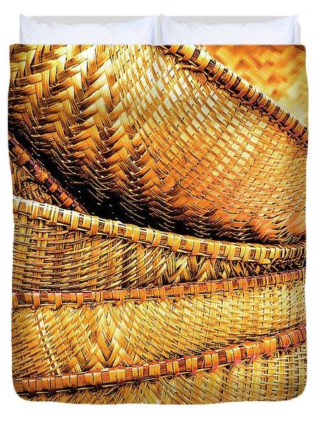 Golden Baskets Duvet Cover