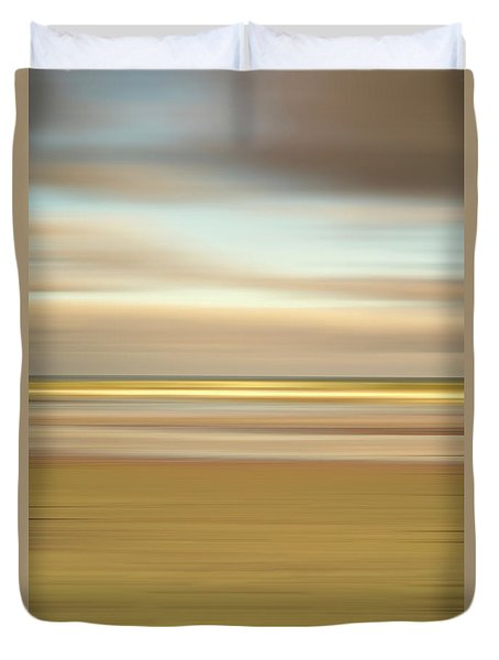 Golden Beach Duvet Cover