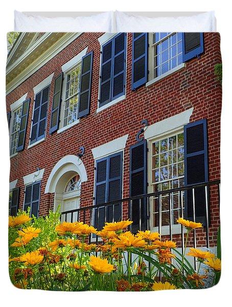 Golden Blooms At The Dahlonega Gold Museum Duvet Cover
