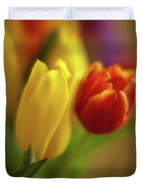 Golden Bouquet Duvet Cover by Mike Reid