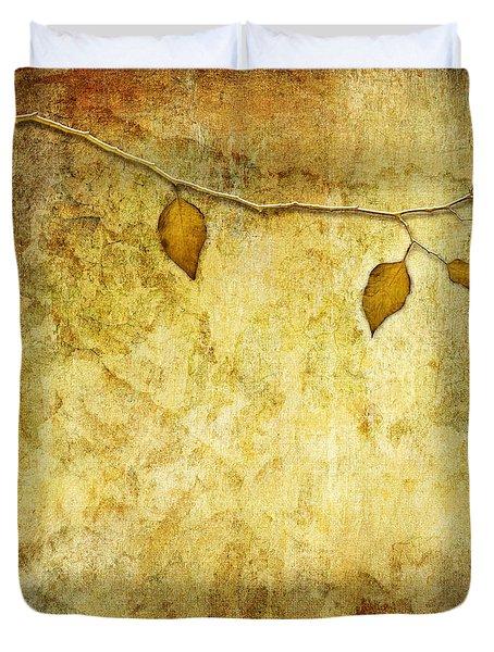 Golden Branch Of Hope  Duvet Cover