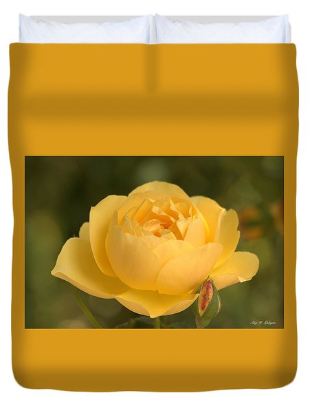 Golden Breath Duvet Cover