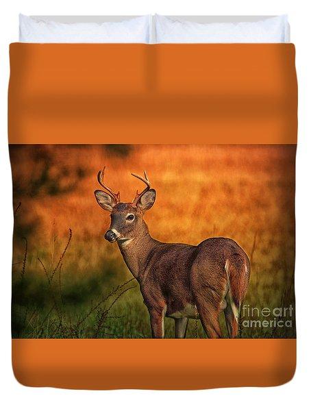 Golden Buck Duvet Cover