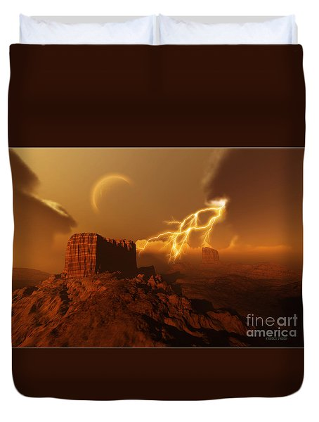 Golden Canyon Duvet Cover by Corey Ford
