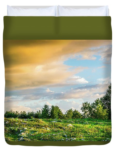 Golden Clouds Duvet Cover