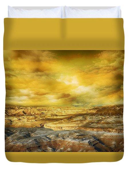 Golden Colors Of Desert Duvet Cover