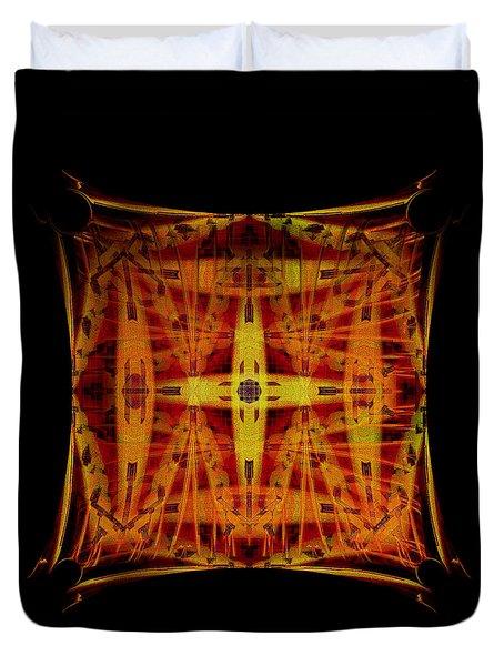 Golden Cross Duvet Cover by Gillian Owen