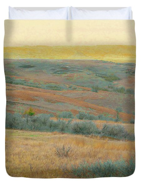 Golden Dakota Horizon Dream Duvet Cover