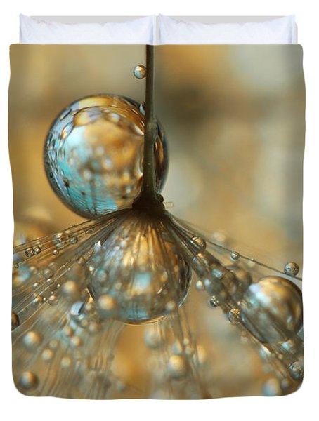 Golden Dandy Shower Duvet Cover