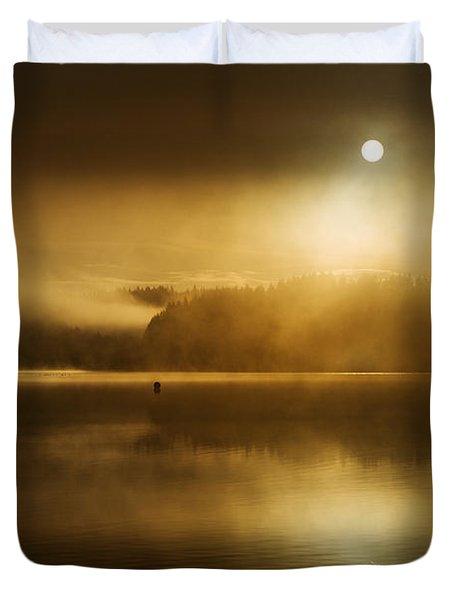 Golden Dawn Loch Ard Duvet Cover