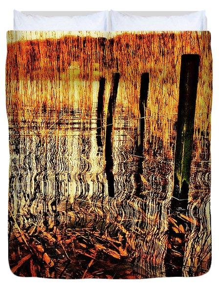 Golden Decay Duvet Cover by Meirion Matthias