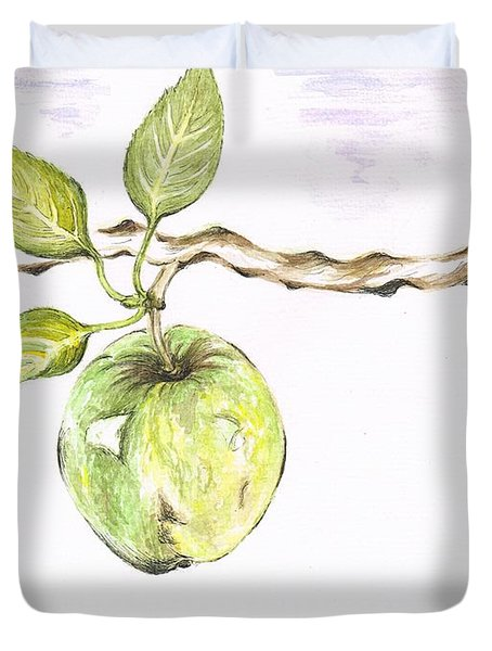 Golden Delishous Apple Duvet Cover