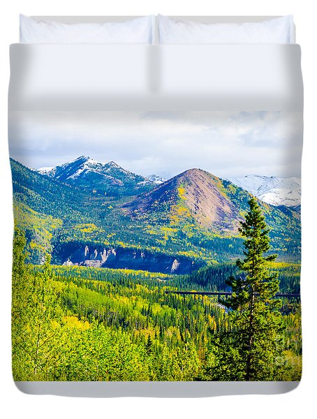 Golden Denali Duvet Cover
