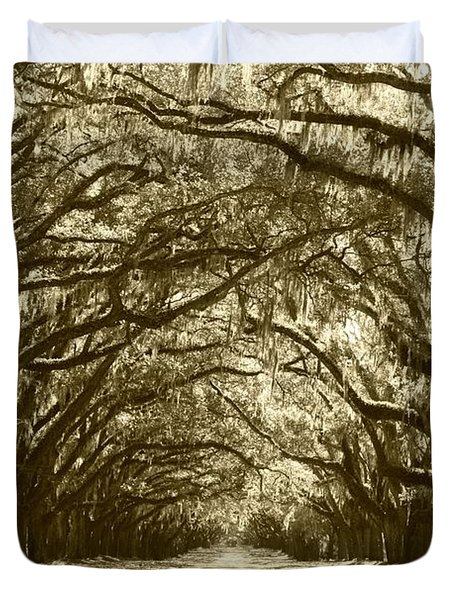Golden Dream World Duvet Cover by Carol Groenen