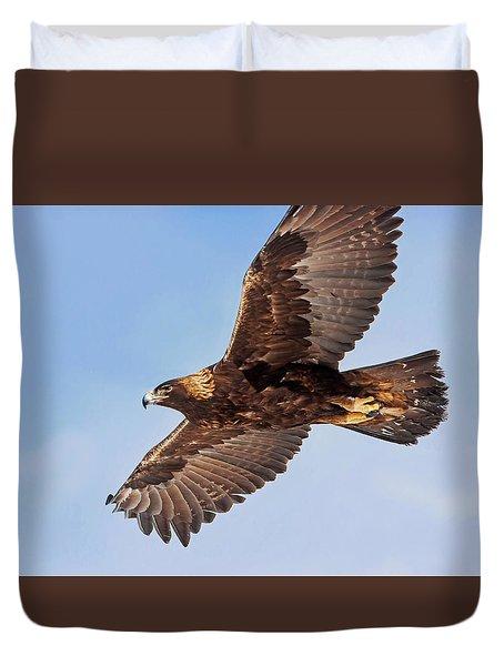 Golden Eagle Flight Duvet Cover