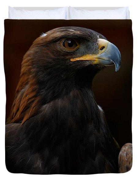 Duvet Cover featuring the photograph Golden Eagle - Predator by Sue Harper