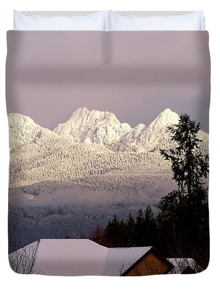 Duvet Cover featuring the photograph Golden Ears Mountain View by Sharon Talson