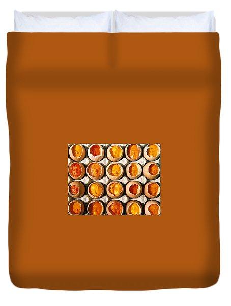 Golden Eggs 2 Duvet Cover by Mark Cawood