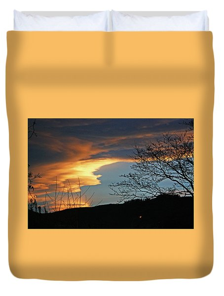 Golden Evening Arch In The Sky Duvet Cover