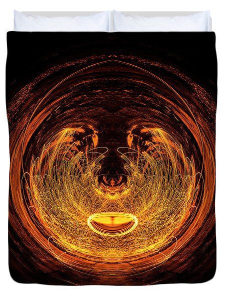 Golden Eye Duvet Cover