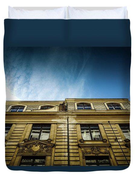 Golden Facade Duvet Cover