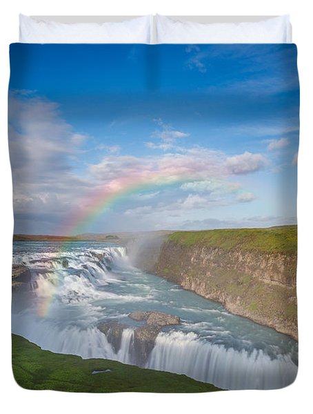 Golden Falls, Gullfoss Iceland Duvet Cover