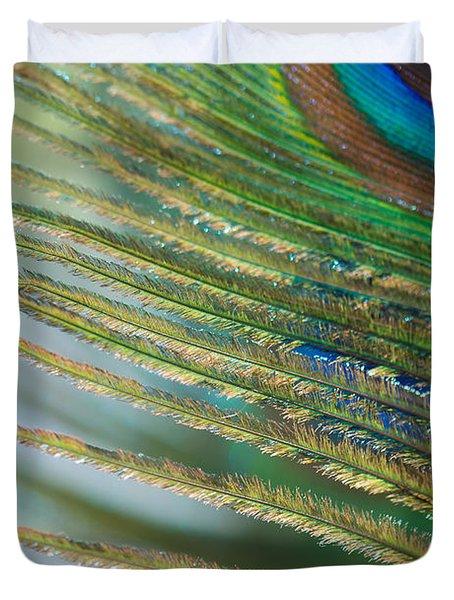 Golden Feather Duvet Cover by Lisa Knechtel