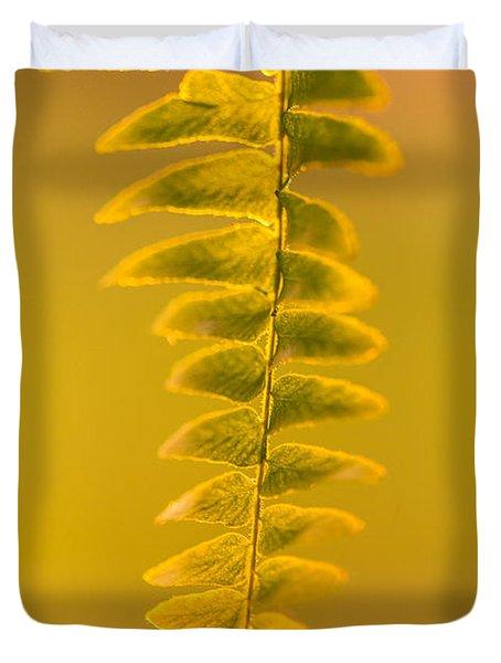 Golden Fern Duvet Cover