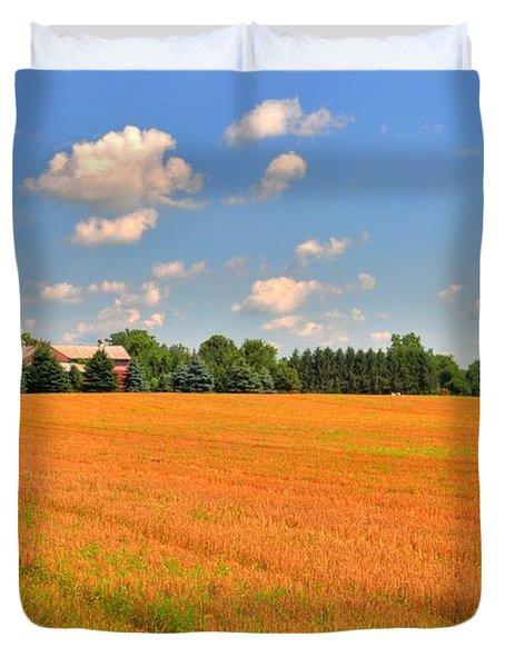 Golden  Field Duvet Cover by Kathleen Struckle