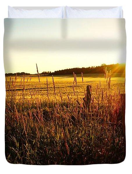 Golden Fields Duvet Cover