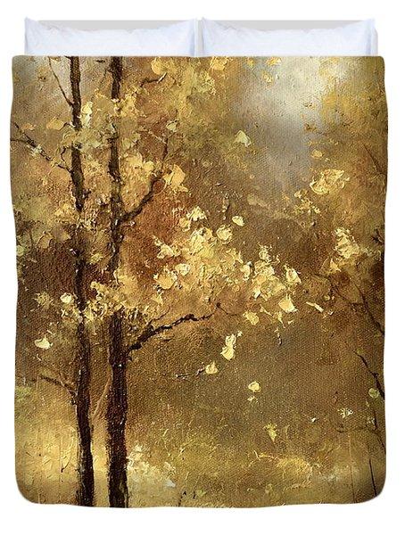Golden Forest Duvet Cover