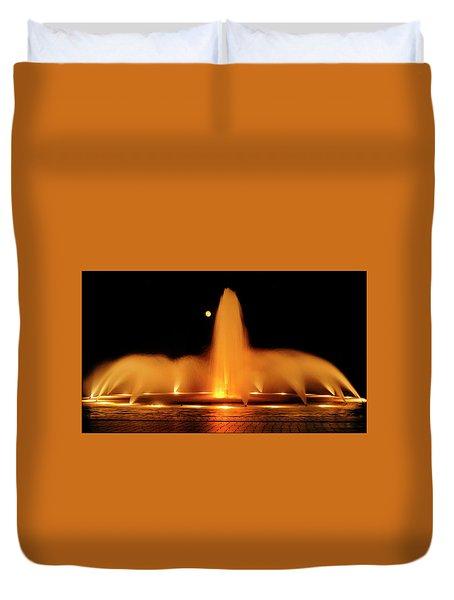 Golden Fountain Duvet Cover
