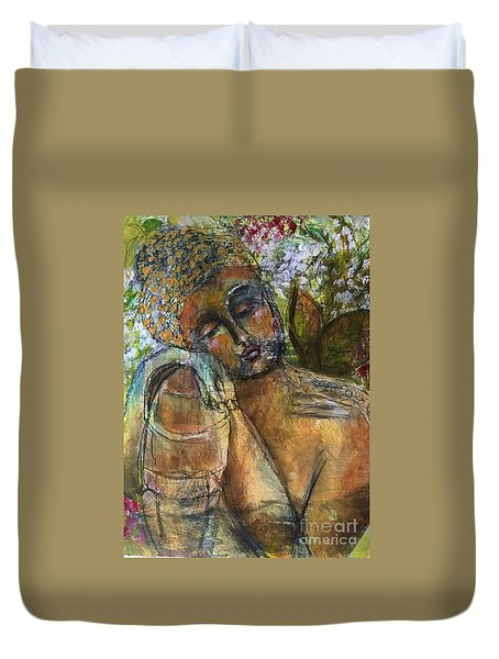 Golden Garden Duvet Cover